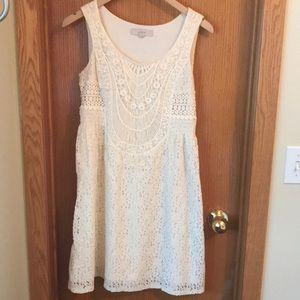LOFT crochet dress